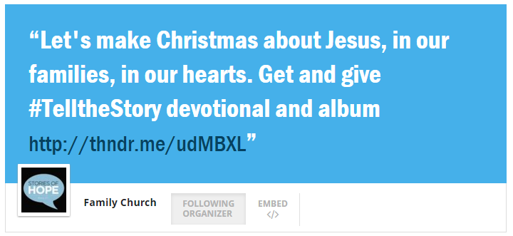 Thunderclap Make Christmas About Jesus